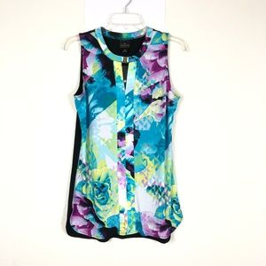 NEW Worthington Women's Sleeveless Floral Top CDK